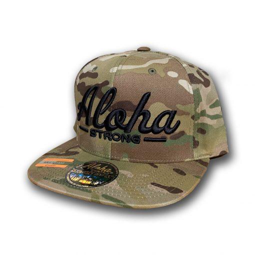 AlohaStrongScriptCamouHat1