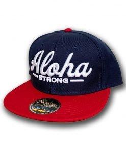 AlohaStrongScriptRedWhiteBlueHat1