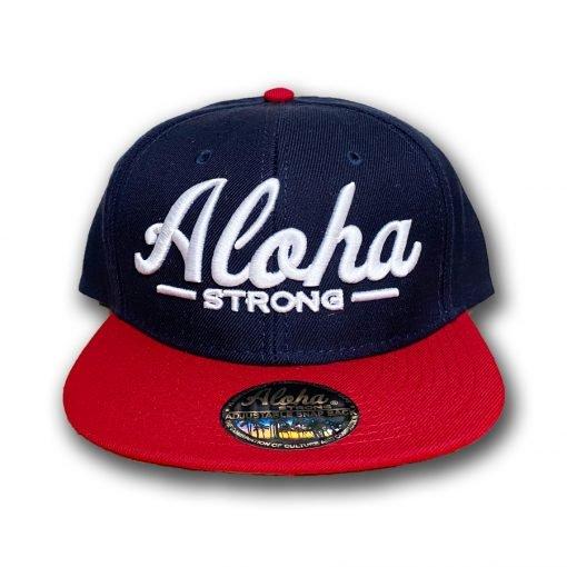 AlohaStrongScriptRedWhiteBlueHat2